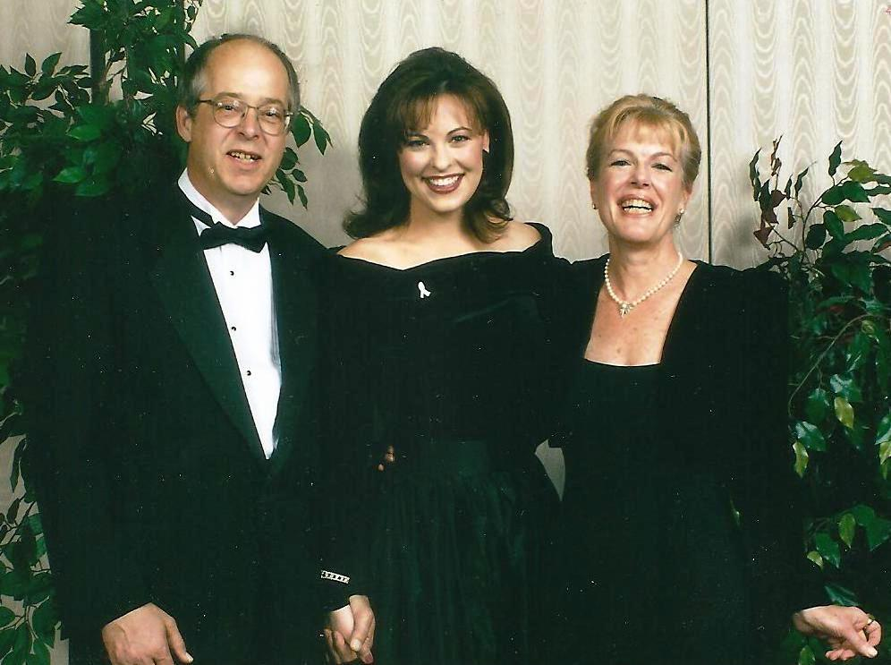 1999 GEM Awards with prince Ashton Hawkins, Miss America Nicole Johnson and Mylan Hawkins