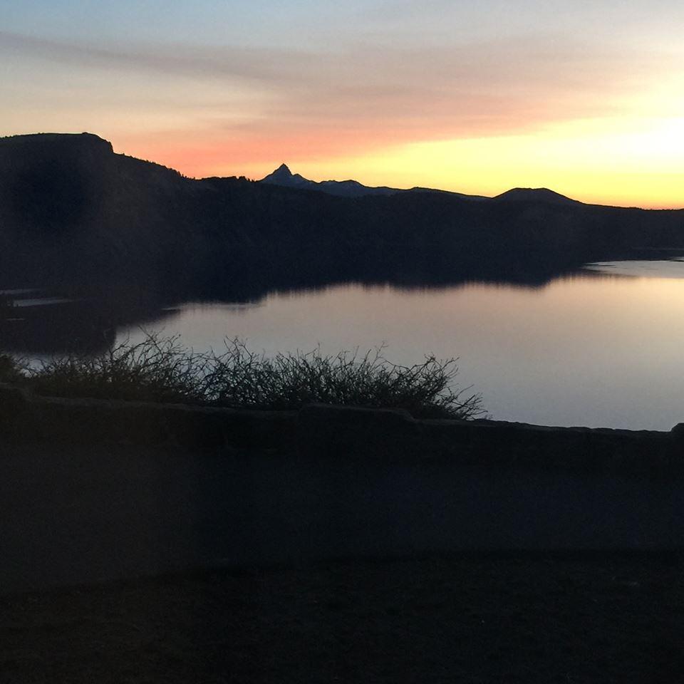 Sunrise at Crater lake May 2015